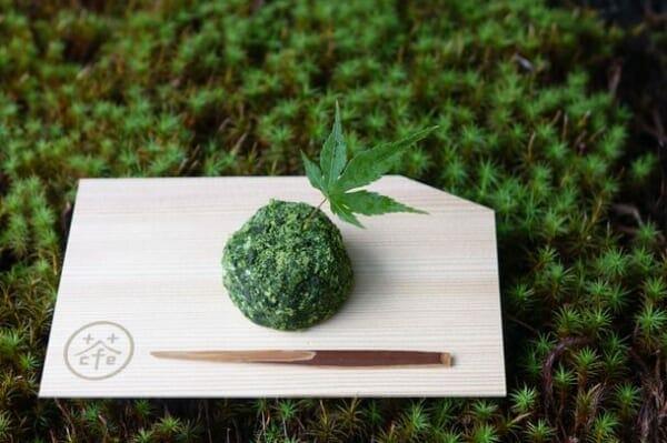 珈琲×茶の「食べられる苔玉」?が京都の和モダンカフェで特別価格で提供