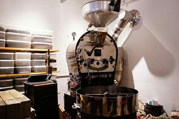 赤外線バーナー加熱方式の焙煎機