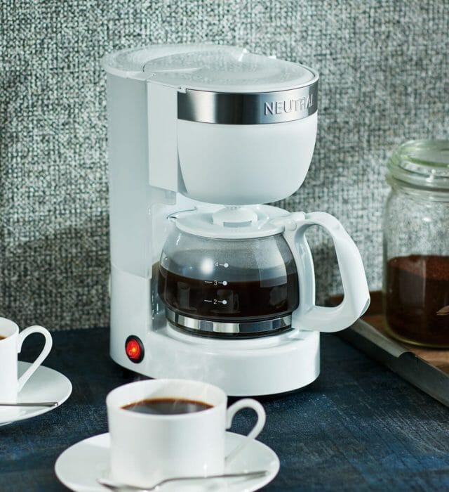 シンプルなデザインでどこにでも馴染む「NEUTRAL アロマコーヒーメーカー」